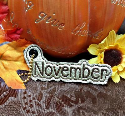 November Month Charm Digital File