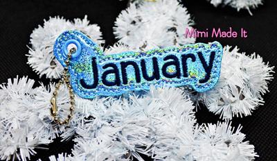 January Month Charm Digital File