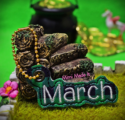March Month Charm Digital File