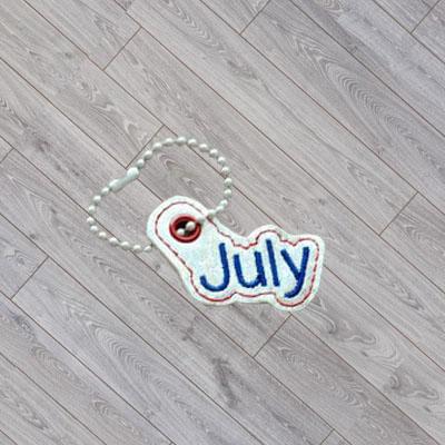 July Month Charm Digital File