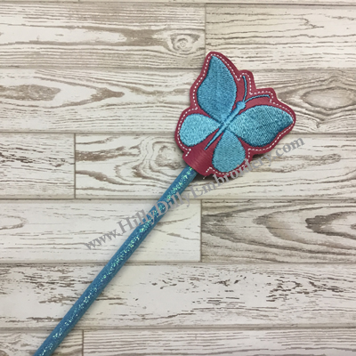Butterfly Silo Chunky Pencil Topper Digital Design File