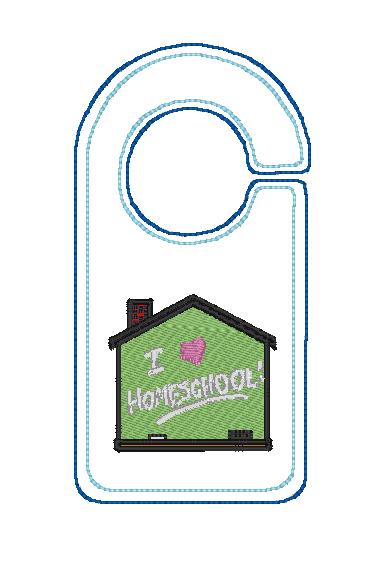 Home School Door Hanger Digital File