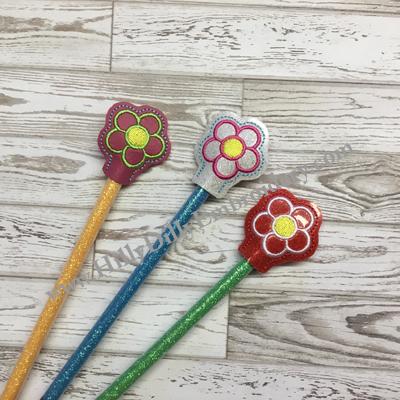 Flower Outline Pencil Topper Digital File Design