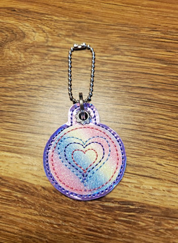 Hearts Circle Eyelet Digital File