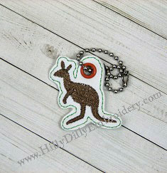 Kangaroo Charm Design Digital File