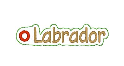 Labrador Word Charm Digital File