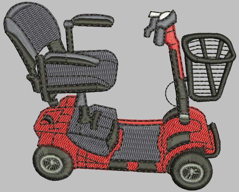 Med scooter 3x3 Digital Design File
