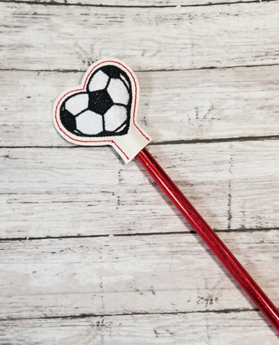 Pencil Soccer Ball Topper Digital File