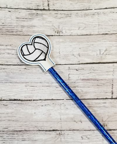 Pencil Volleyball Topper Digital File