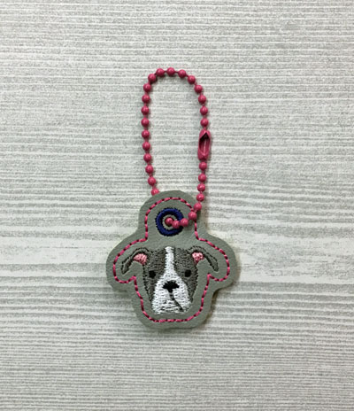 Pitbull Dog Head Charm Digital File