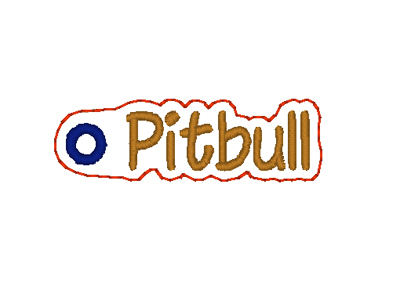 Pitbull Word Charm Digital File