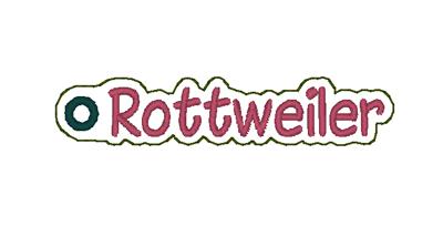 Rottweiler Word Charm Digital File
