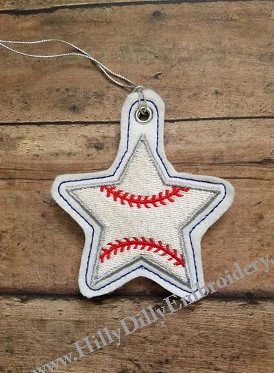 Star Baseball Eyelet Digital Design