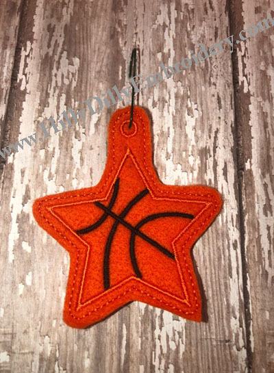 Star Basketball Eyelet Digital Design