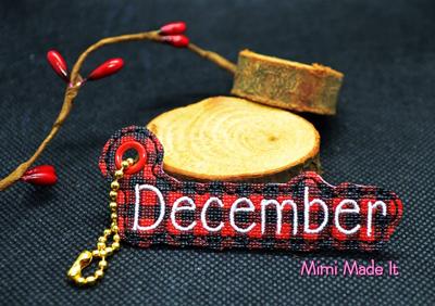 December Month Charm Digital File