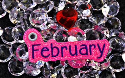 February Month Charm Digital File