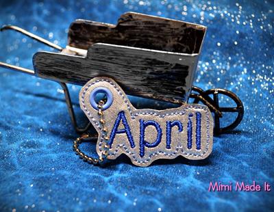 April Month Charm Digital File