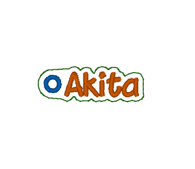 Akita Word Charm Digital File