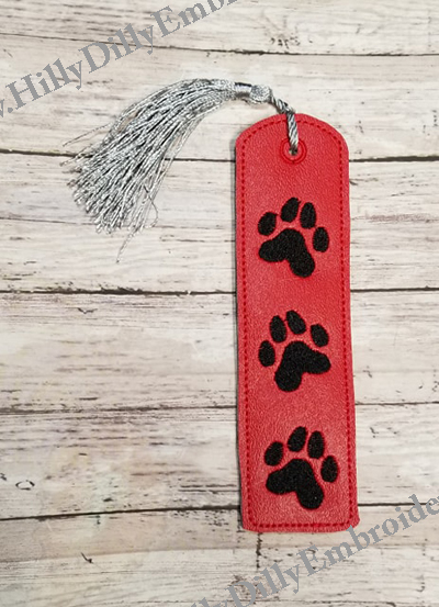 Book Mark Paw Prints Digital File
