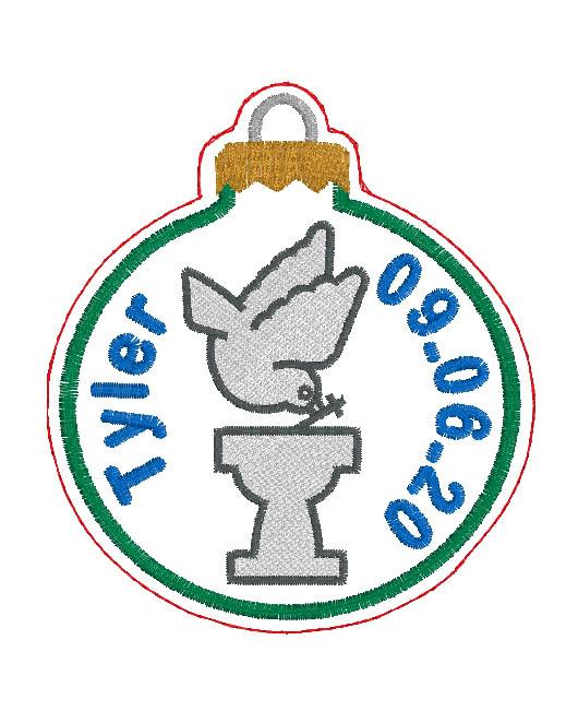 Baptism Ornament Digital Design File