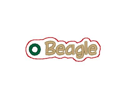 Beagle Word Charm Digital File
