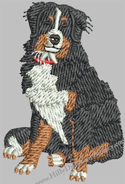 Bernese Mountain Dog 4x4 Digital Design FIle