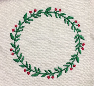 Berry Wreath Fill Circle Digital Design File