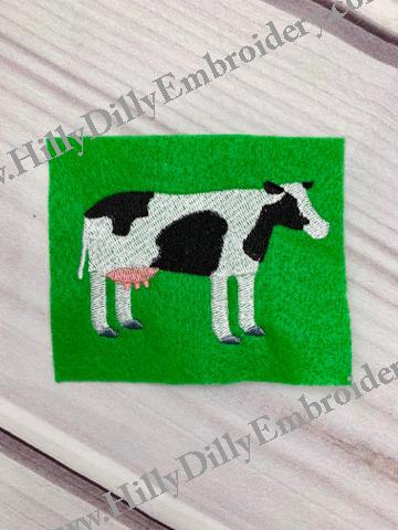 Black & White Cow 4x4 Design Digital File