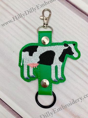 Black & White Cow Bottle Holder Digital File