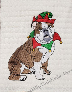 Bulldog Elf 5x7 Digital Design File