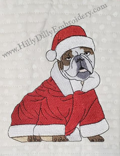Bulldog Santa 5x7 Digital Design File