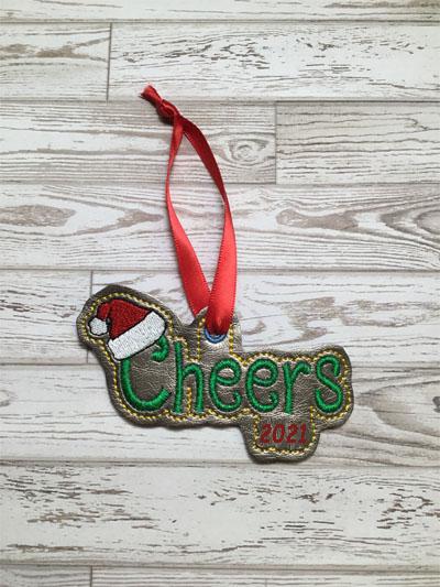 Cheers Santa Hat Eyelet Digital File