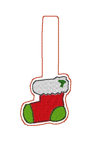 Christmas Stocking Snap Tab Digital File