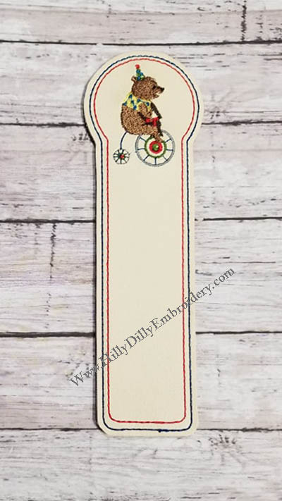 Circus Bear Book Marker Digital File