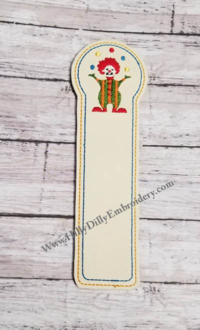 Circus Clown Book Marker Digital File