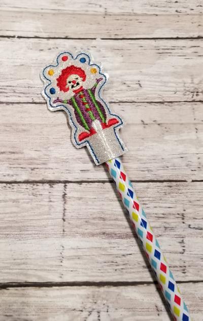 Pencil Clown Topper Digital File