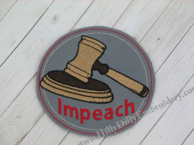 Impeach Gavel Coaster Digital Design File