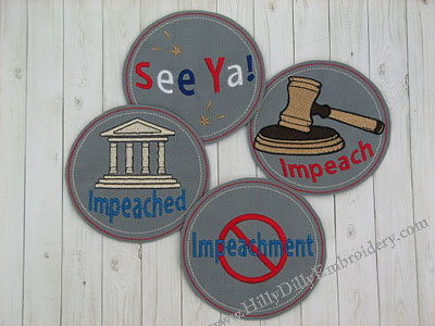 Impeach Coaster 4pc SET Digital Design File