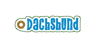 Dachshund Word Charm Digital File
