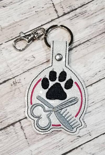Dog Groomer Snap Tab Digital File