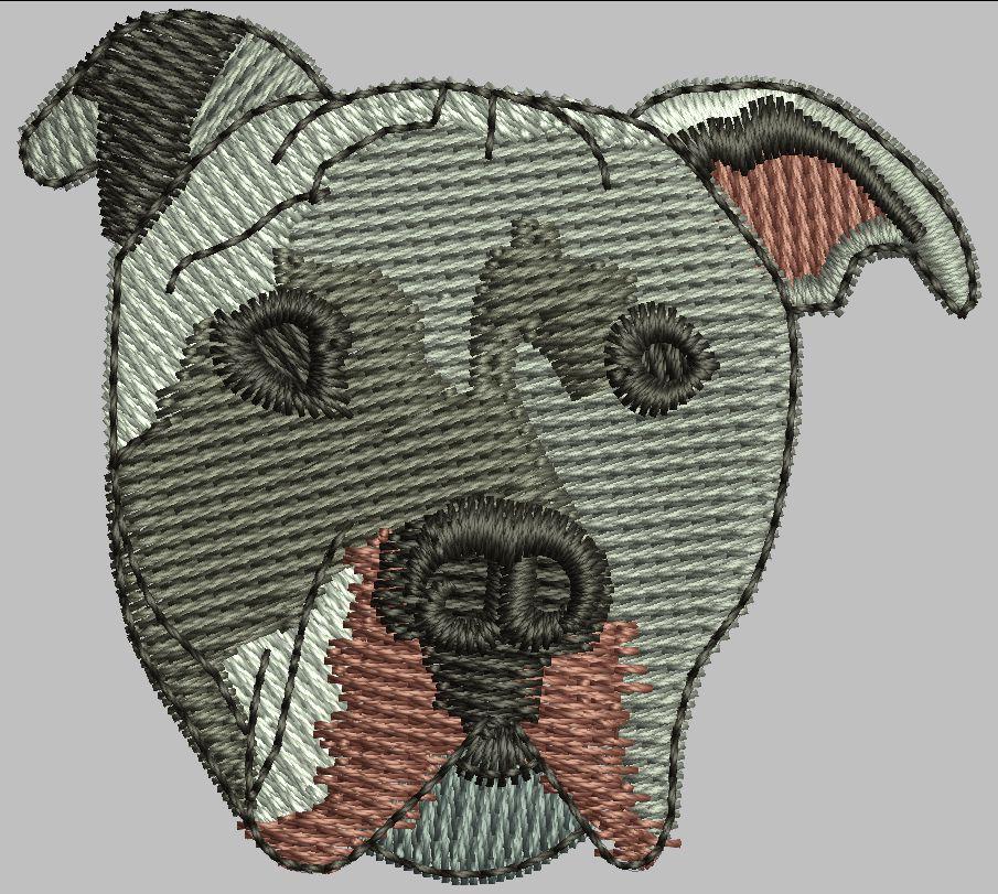 Dog Head Snap Tab Digital File