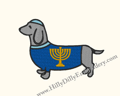 Doxie Menorah 4x4 Digital Design File
