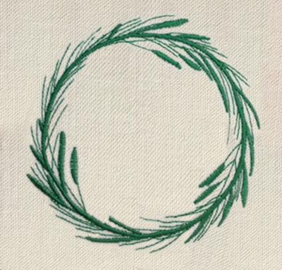 Evergreen Wreath Circle Digital Design File