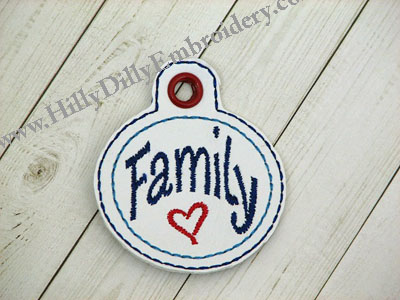 Family Circle Eyelet Digital File