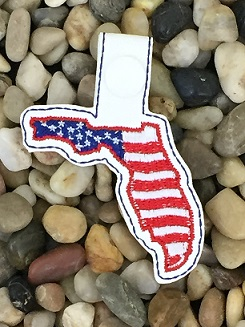 Florida Patriotic State Snap Tab Digital File