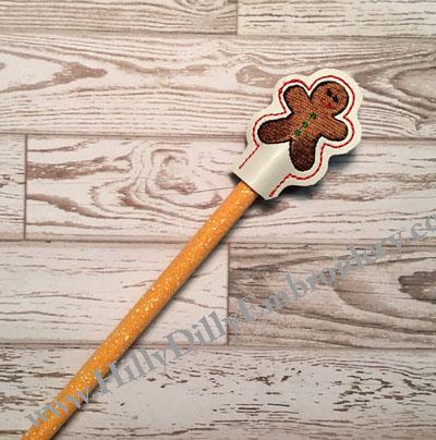 Gingerbread Pencil Topper Digital File