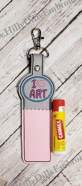 I Love Art Lip Balm Holder Digital Design