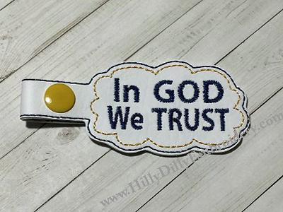 In God We Trust Snap Tab Digital File