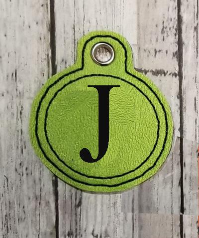 J Circle Eyelet Digital File