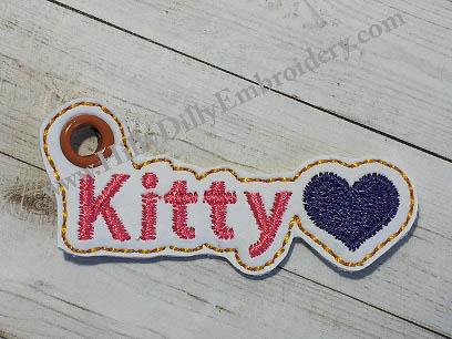 Kitty Heart Charm Digital File